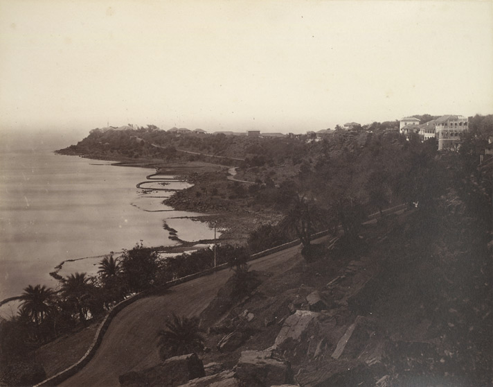 Photograph of Malabar Point, Bombay taken by an unknown photographer in the 1860s.
